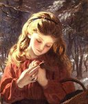 Sophie Gengembre Anderson (1823-1903)  A New Friend  Oil on canvas, unknown  Private collection